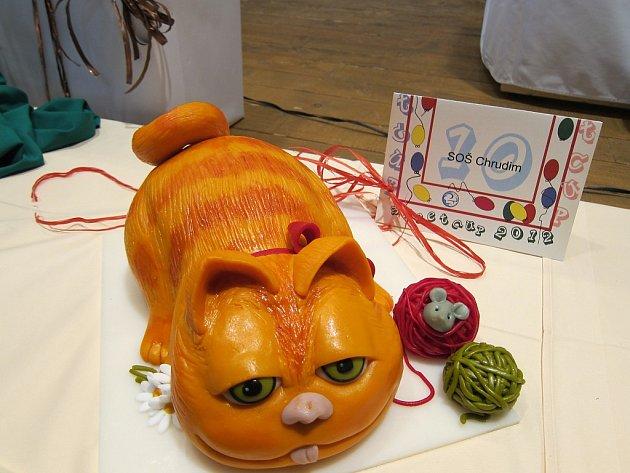 Vítězný dort Kocour Garfield. No není k zakousnutí?