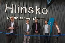 Slavnostní otevření nového dopravního terminálu v Hlinsku