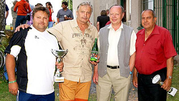 Turnaj v Přestavlkách - zleva Škrha, Lankaš, Bakeš, Baláž.