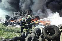 Skládku pneumatik zachvátil před pěti lety požár.