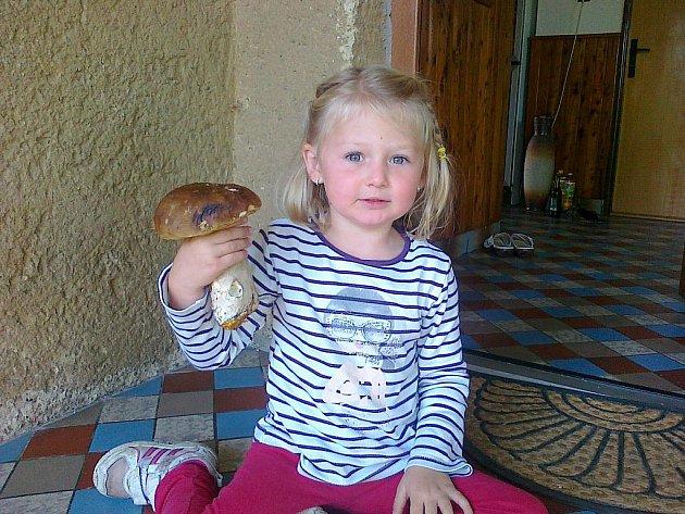 Maruška se svou babičkou našla v lesích poblíž Žumberka takové krasavce.