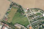 Letecký pohled na lokalitu (pro orientaci - bod 1 je benzinová pumpa)