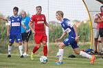 Přípravné fotbalové utkání mezi MFK Chrudim a FK Pardubice.