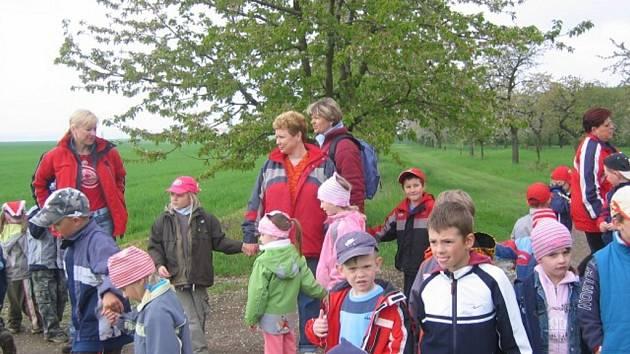 Nejen děti ze ZŠ Dr. Malíka, ale i dospělí, které zajímá příroda, oslavili Den Země vycházkou do přírody s Ecocentrem Zelený dům.