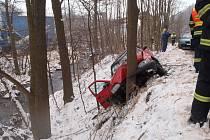 Při nehodě mezi Lukavicí a Žumberkem byly zraněny dvě osoby.
