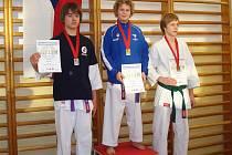 Jakub Mucha vybojoval zlatou medaili. Stal se tak mistrem republiky ČABK v kumite.