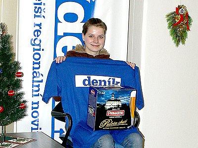 Monika Vraspírová vyhrála 2. kolo Zimní Tipligy.