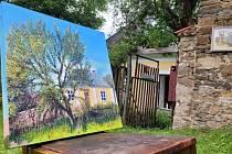 Výstava obrazů a fotografií v Moravanech u Ronova nad Doubravou.