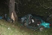 Nehoda na silnici mezi Rohoznou a Trhovou Kamenicí.