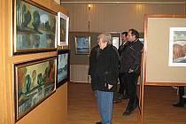 Expozice nabízí zajímavé pohledy malíře Jaroslava Korečka.