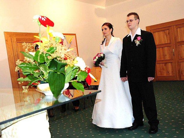 Svatební obřad novomanželů Markéty a Ondřeje Mrázkových začal 11. ledna 2011 úderem jedenácté hodiny.