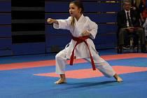 Linda Vojáčková z KK Lichnice cvičící Kata