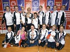 Děvčata ze skupiny Rondo mají z úspěchu při chorvatském Mistrovství Evropy klasických mažoretek velkou radost.