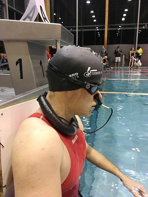 Nádechový potápěč Vojtěch Novák