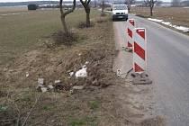 K dopravní nehodě došlo mezi obcí Skupice a křižovatkou na obec Morašice v období od 18. do 25. března 2013. Dosud neznámý řidič neznámého nákladního vozidla, z neznámých příčin najel s vozidlem na pravou krajnici, která se pod tíhou propadla.