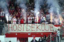 Vysoké vítězství nad Benátkami uzavřelo veleúspěšnou sezonu chrudimských hokejistů korunovanou postupem do I. ligy. A oslavy mohly začít...