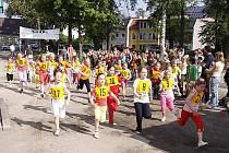 Školou povinní závodili v Hlinsku v běžeckém závodě O pohár předsedy klubu.