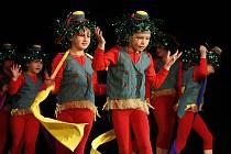 """Při festivalu """"Děti v pohybu"""" v Hlinsku se na pódiu multifunkčního centra vystřídalo třináct souborů z celé republiky."""