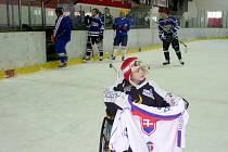 Míša Terezka dostal během turnaje Dřevomorka Cup dres ze Slovenska.