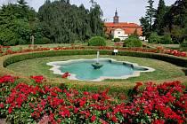 Zámecký park v Chrasti.