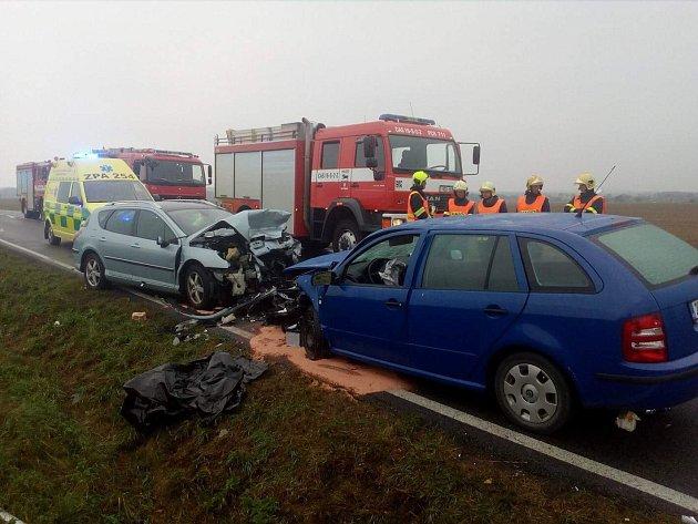 Tragická nehoda u obce Zaječice.