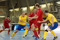Z utkání 5 základní skupiny UEFA Futsal Cupu Era-Pach Chrudim - Nautara Kanunas 6:1.