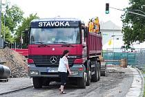 Práce na rekonstrukci kanalizace v ulici Palackého. Ilustrační foto.