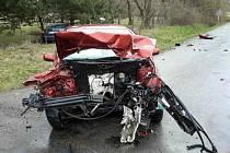 Nehoda dvou automobilů u Bořic.