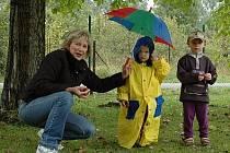 Při oslavách v Rosicích pršelo.