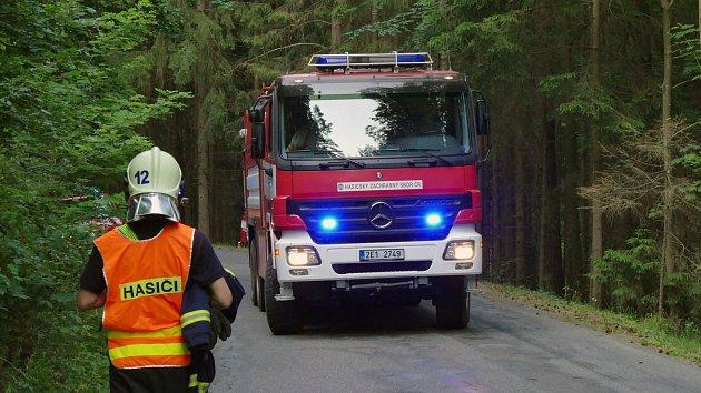 Zásah hasičů nedaleko Boru u Skutče