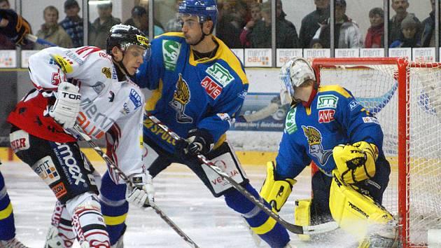 V dalším utkání I. hokejové ligy prohrála HC Chrudim doma s Ústím nad Labem 2:4.