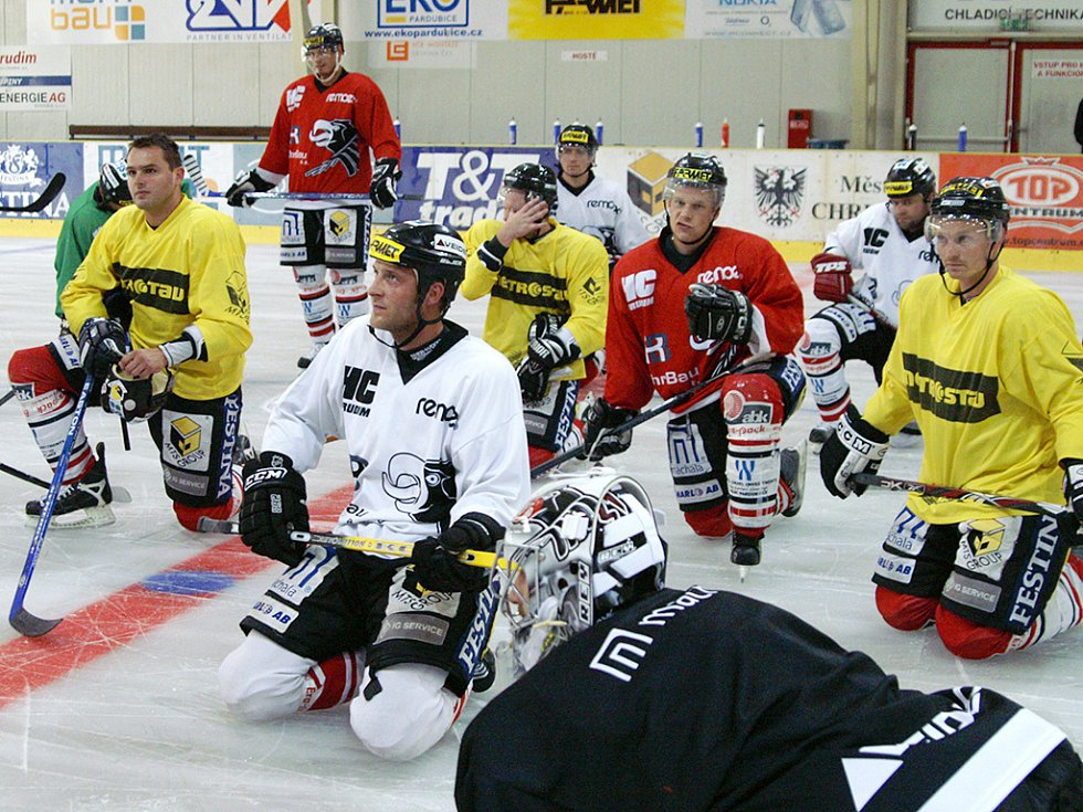 Chrudimští hokejisté absolvovali první trénink na ledě