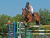 Závody ve Vestci vyhrála Veronika Bartošová  na koni Luna Ká.