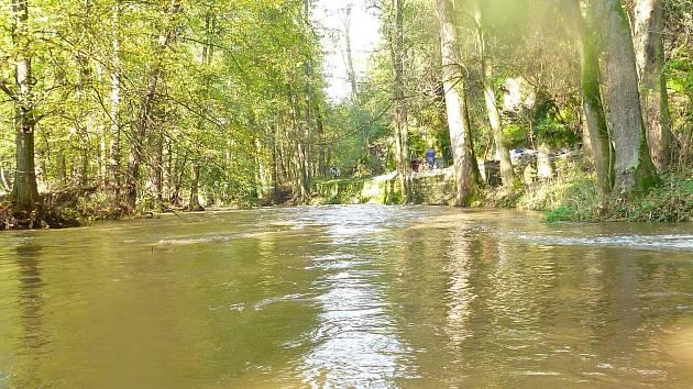 Na řece Doubravě.