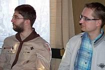 Na nového radního města Hlinska je delegován Tomáš Jírů (vlevo). Na snímku vpravo je místostarosta Hlinska Pavel Šotola a zároveň předseda MO KDU-ČSL v Hlinsku.
