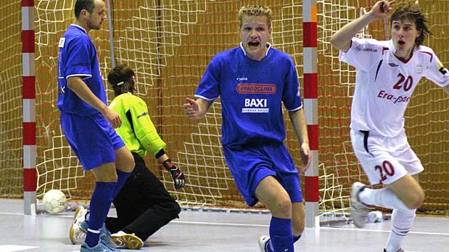 Z prvního utkání futsalového semifinále Era-Pack - Kladno