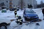 Hasiči ve Vysokém Mýtě zasahovali v ulici Českých Bratří u kolize dvou osobních vozidel, Škoda Favorit a Ford Escort.