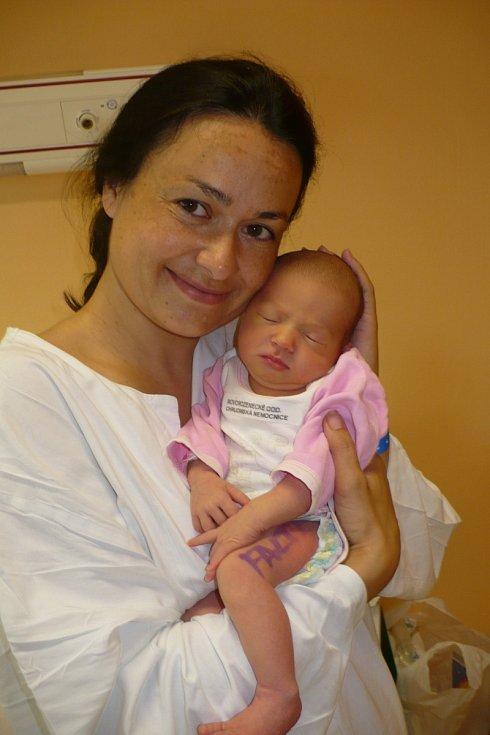 ANETA HUBÁČKOVÁ (3,44 kg a 50 cm) potěšila 2.8. ve 12:44 nejen rodiče Žanetu a Dalibora z Chrudimi, ale i 4,5letou sestřičku Leonu.