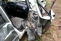 Automobil v Boru u Skutče narazil do stromu a sjel ze srázu.