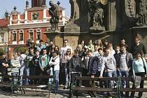 Studenti z Olešnice na návštěvě v Chrudimi.