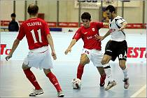 Z utkání UEFA FUtsal Cupu Era–Pack Chrudim - Iberia Star Tbilisi 0:5.