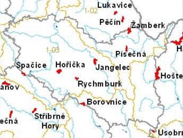 Kpůvodním osmi přehradám vkraji (ztoho čtyři na hranicích sokolními kraji) nyní ministerstvo zařadilo ještě devátou, a to uAlbrechtic na Lanškrounsku.