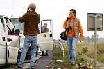 Na místě nehody natáčely i televizní štáby.