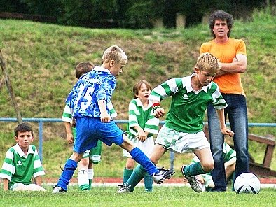 Trenérskou taktovku drží v Hlinsku u týmu mladší přípravky Radek Vašek.