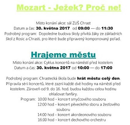 Program ZUŠ Open v Chrasti.