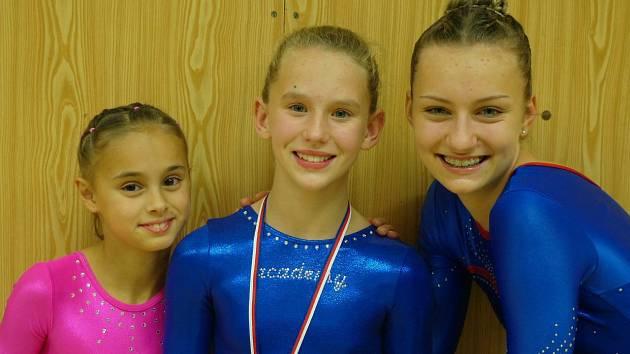 Chrudimské gymnastky si v Pelhřimově vedly opravdu dobře. Sára Kulhánová se umístila na druhém místě.