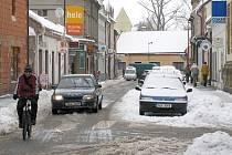 Hlinsko pod sněhem.