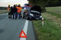 Nehoda na silnici I/17 za Chroustovicemi.