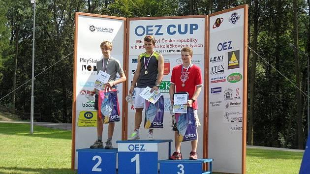 Milan Žemlička na stupních vítězů.
