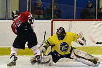 Fotografie z hokejového utkání Choceň – Chrudim 6:5.